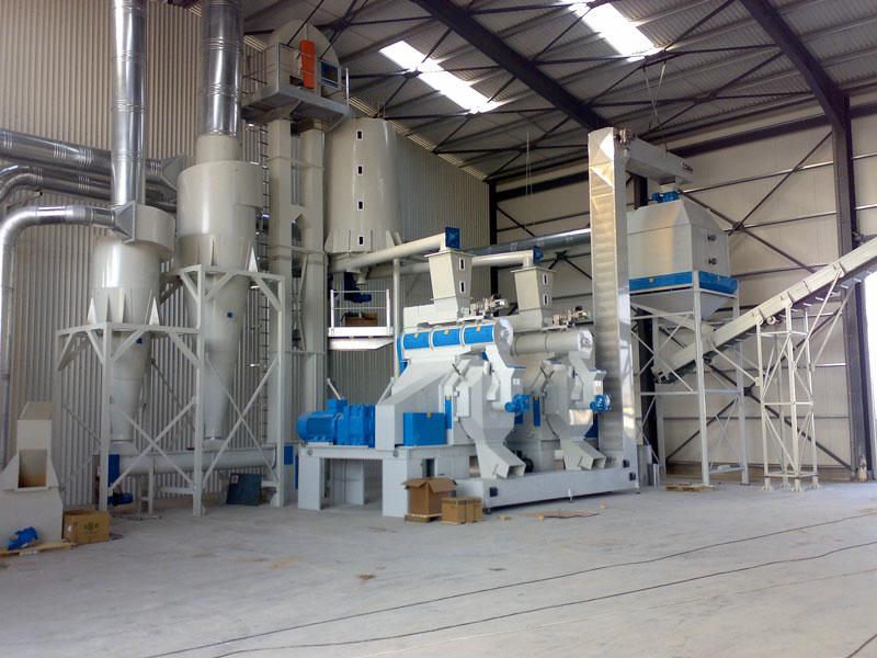 Pellet in legno trialmec for Impianto produzione pellet usato